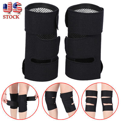 Tourmaline Self Heating Kneepad Magnetic Therapy Knee Support Belt Massager 2pcs