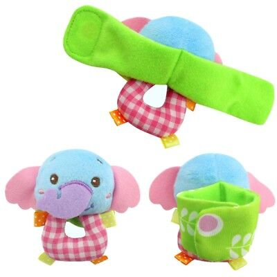 US Baby Sensory Toys Infant Soft Wrist Rattle Wristband Cuff Hand Finder Gifts
