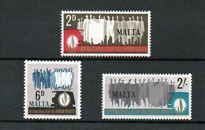 Malta 1968 Human Rights MNH set