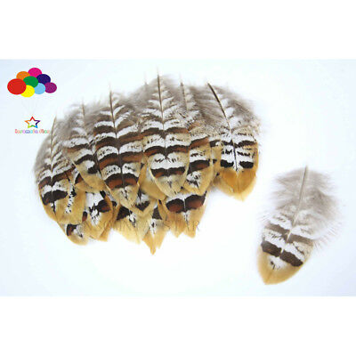 10-100 Pcs Natural Pheasant Feather Brown Yellow Flake 2-4in/5-10cm Diy Carnival