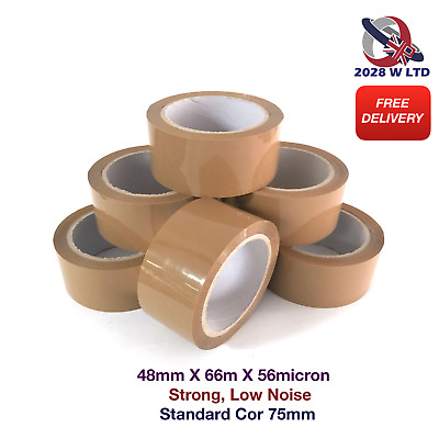 BROWN PARCEL PACKING TAPE - 48mm*66m*56mic (STRONG, LOW NOISE)