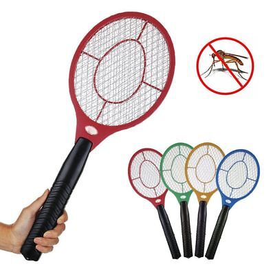 Bug Zapper Racket Electric Mosquito Fly Swatter Killer Insects Bat Handheld AU