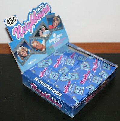 Box of Scanlens Neighbours Cards circa 1987 with 52 sealed packs