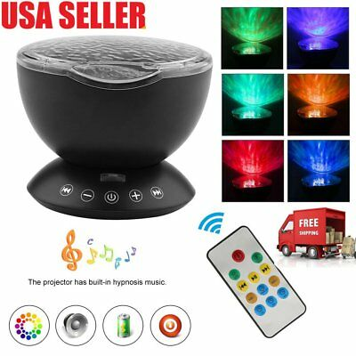 Ocean Wave Projector LED Night Light Built-in Music Player 7 Color Changing OY