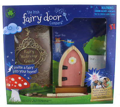 Irish Fairy Door Playset: Pink Door