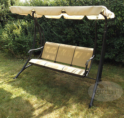 Luxury Torino - Garden Classics Patio Metal Frame 3 Seater Swing Seat Bench
