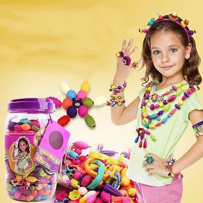 240pcs Colorful DIY Pop Beads Toy Snap Jewelry Craft Girls Birthday Party Gift