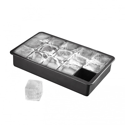 Black Silicone Ice Cube With Lid Food Ice Cube Mold Popsicle Box Ice Box