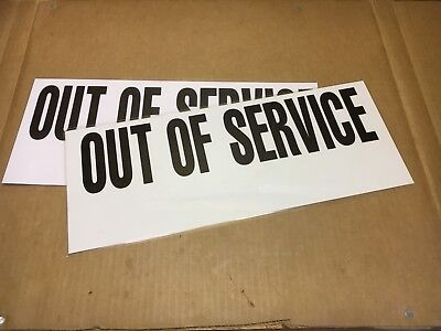 """2 Chp California Highway Patrol Laminated """"Out Of Service"""" Signs Crown Victoria"""