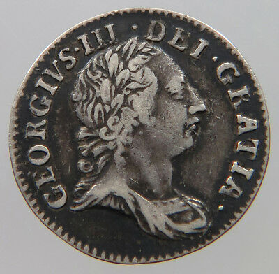 GREAT BRITAIN 3 PENCE 1762 MAUNDY    #t40 347