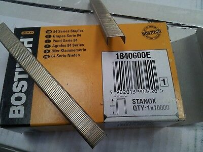 Bostitch 84 Series Staples. 1840600E & 1841400Z 12.3mm crown Staples