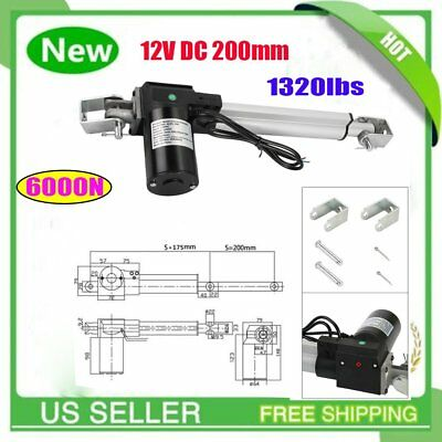 6000N Linear Actuator 12V Electric Motor for Solar Track Auto Door Lifting OY
