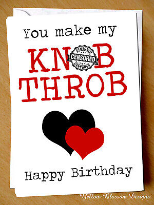 Rude Birthday Card For Her Wife Girlfriend Cheeky Adult Naughty Blunt Love Joke