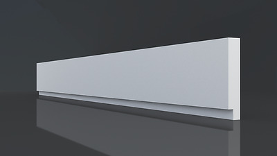 Cp12 Low Profile Wall Ceiling Moulding Strip Decoration Bar Polystyrene Cornice 4 23 Picclick Uk