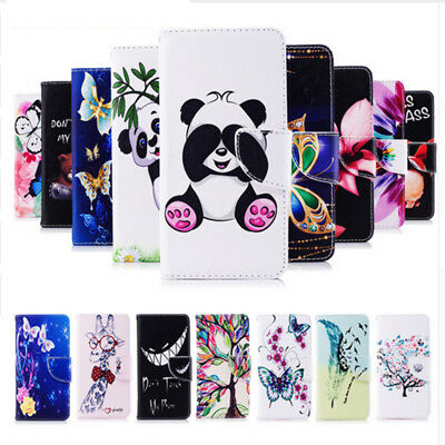 Panda Patterned PU Leather Wallet Magnetic Card Slot Stand Case Cover For Huawei