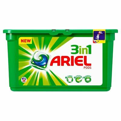 Ariel 3In1 Pods Regular - 38 Washes (38 per pack) (Pack of 2)