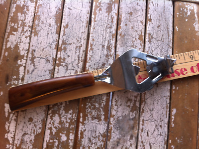 Vintage Can and Bottle Opener with Resin/ Bakelite Handle Marked Pat. Pending