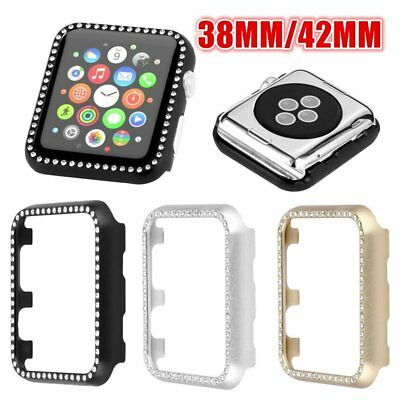 Aluminum Diamond Decor Shockproof Watch Shell Protective Case for Apple Watch