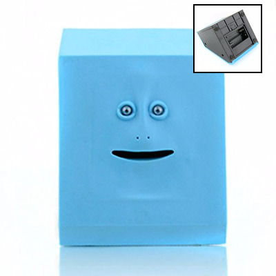 Face Bank Automatic Coin Eating Savings Kids BLUE FREE SHIPPING Toys & Games