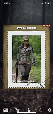 Topps The Walking Dead Card Trader Rosita Gold Poster 25cc