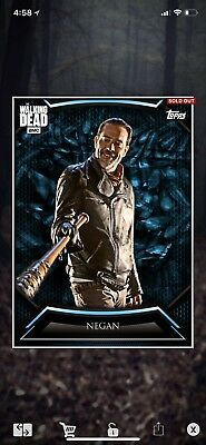 Topps The Walking Dead Card Trader Negan Blue Syndicate