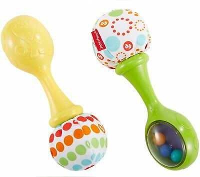 Fisher-Price Rattle 'n Rock Maracas Musical Baby Toy 3m+ Unisex Pack of 2