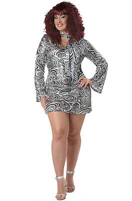 Brand New Disco Diva Women Plus Size Adult Halloween Costume