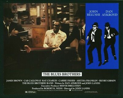 Blues Brothers original 1980 lobby card 11x14 Belushi Dan Aykroyd Ray Charles