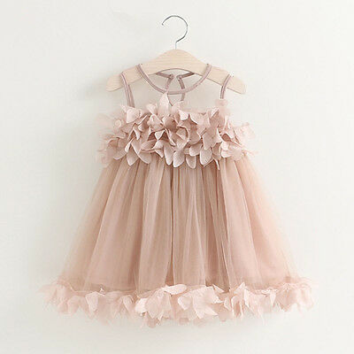 Kids Baby Girls Princess Dress Floral Pageant Wedding Party Tutu Dresses Lovely