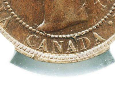 Canada Queen Victoria 1894 One Cent  Ngc Ms63 Bn (Die Crack On Canada #955)
