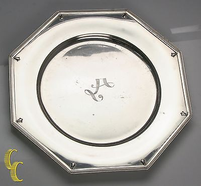 "Alvin Richmond Sterling Silver 10"" Plate Charger Some Wear, Nice Replacement"