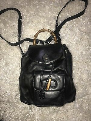 8fa2371596cb DESIGNER WOMEN S VINTAGE Leather Nylon Backpack by Gianni Versace ...