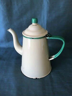 Antique Primitive Toleware Coffee Pot