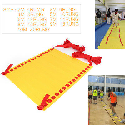 4~20 Rung Agility Ladder for Soccer Speed Football Fitness Feet Training 2M~10M