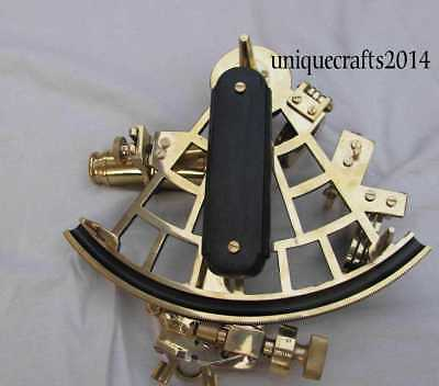 """Nautical Brass Ship Working Sextant Astrolabe Navigation Decoration Perfect 9""""."""