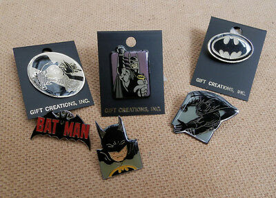 Lot 6  Pins Batman 1989 Penguin Logo DC Comics