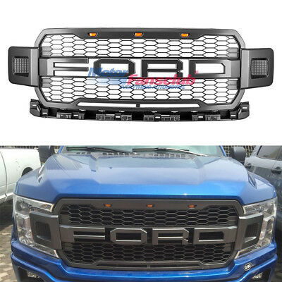 Front Center Grille Upper Radiator Grille For Ford F150 2018 Raptor Style F-150