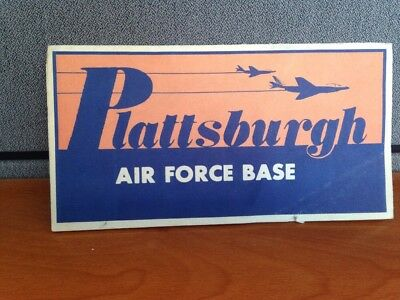 Plattsburgh Air Force Base Visitor Map With Local Ads.  Vintage.