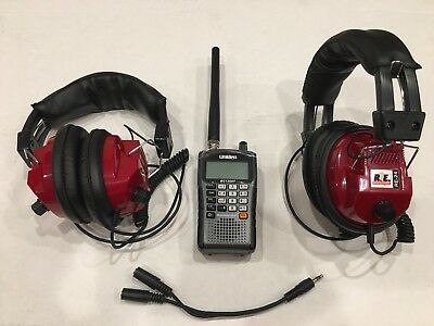 NASCAR  Racing Race Scanner with 2-headsets Uniden BC75XLT BRAND NEW