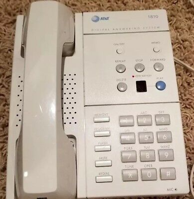 Vintage AT&T Digital Answering System Telephone 1810 White*Rare Find*