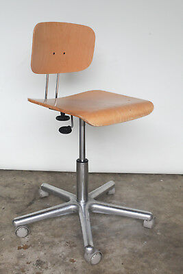 KaVo EWL Adjustable Work Stool Dental Chair Plywood / Wood / Aluminum / Rolling