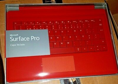 Microsoft Surface Pro 4 / 3 / 2017 Type Cover Slim Backlit Keyboard | RED