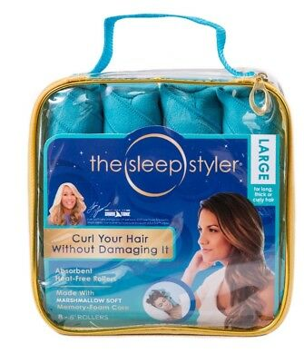 "The Sleep Styler For Long Hair NIP 8 Rollers Curlers 6"" As seen on Shark Tank US"