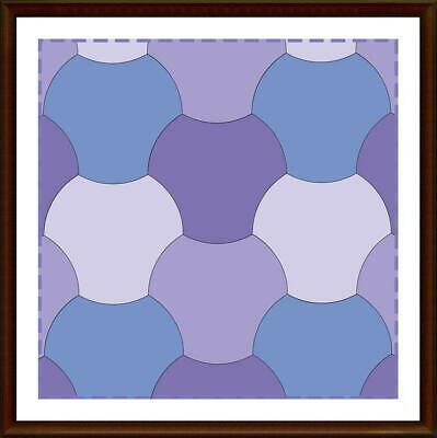 Template for cutting and patchwork - Fidget weave for charm pack