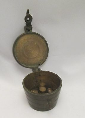 A Fine Set 19th Century of Small Brass Weights in a Bronze Box