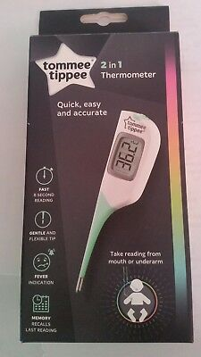 Tommee Tippee 2 in 1 Thermometer - BNIB
