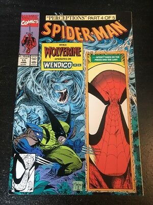 Spider-man#11 Incredible Condition 9.2(1991) Wendigo,Wolverine,Mcfarlane Art!!