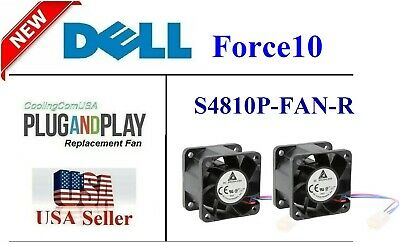 "2x New replacement fans for Dell Force10 S4810P-FAN-R ""Reverse Air Flow"""