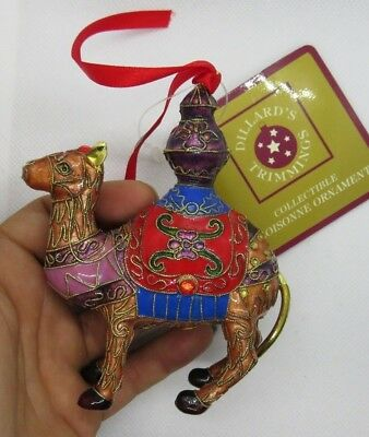 Dillards Trimmings Cloisonne CAMEL Christmas Ornament New in Box