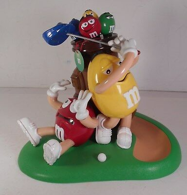 M&M's Candy Dispenser Mulligan-Ville Golf Red & Yellow M & M's pre owned